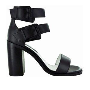 5208d3ba8cb1 Wittner Lyla Black Leather and Elastic Strap Sandal
